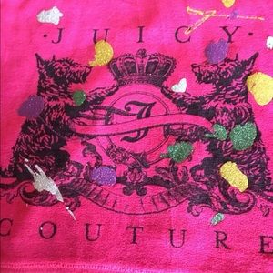 Juicy Couture Velour Fuchsia Embellished Hoodie  L